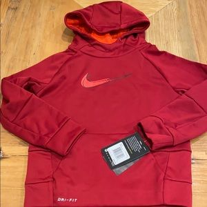 NEW Nike Therma Youth Polyester Hoodie